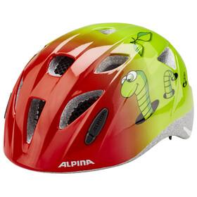 Alpina Ximo Lapset Pyöräilykypärä , vihreä/punainen